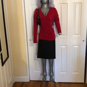 Ann Taylor ruched top Size S
